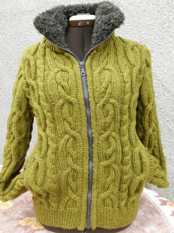 modèle tricot veste irlandaise