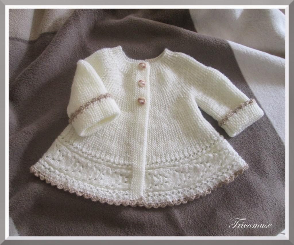 modèle tricot layette drops