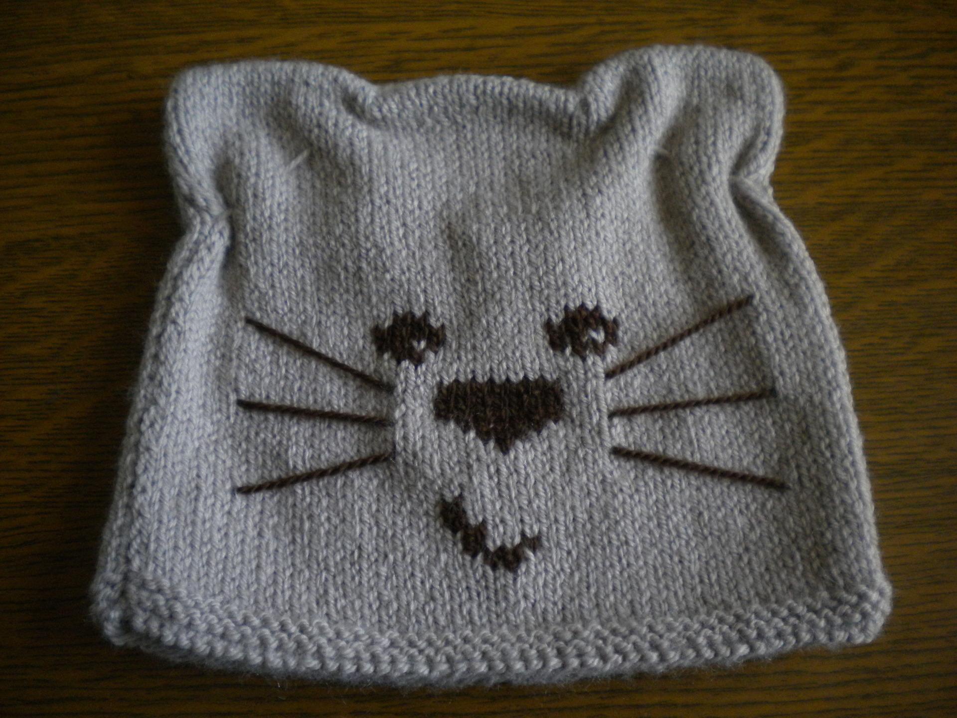 0d249780f4b gratuit patron tricot bonnet chat ...