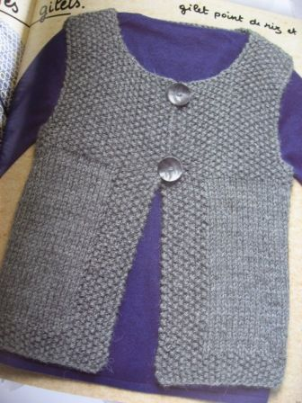 modele tricot gilet 10 ans