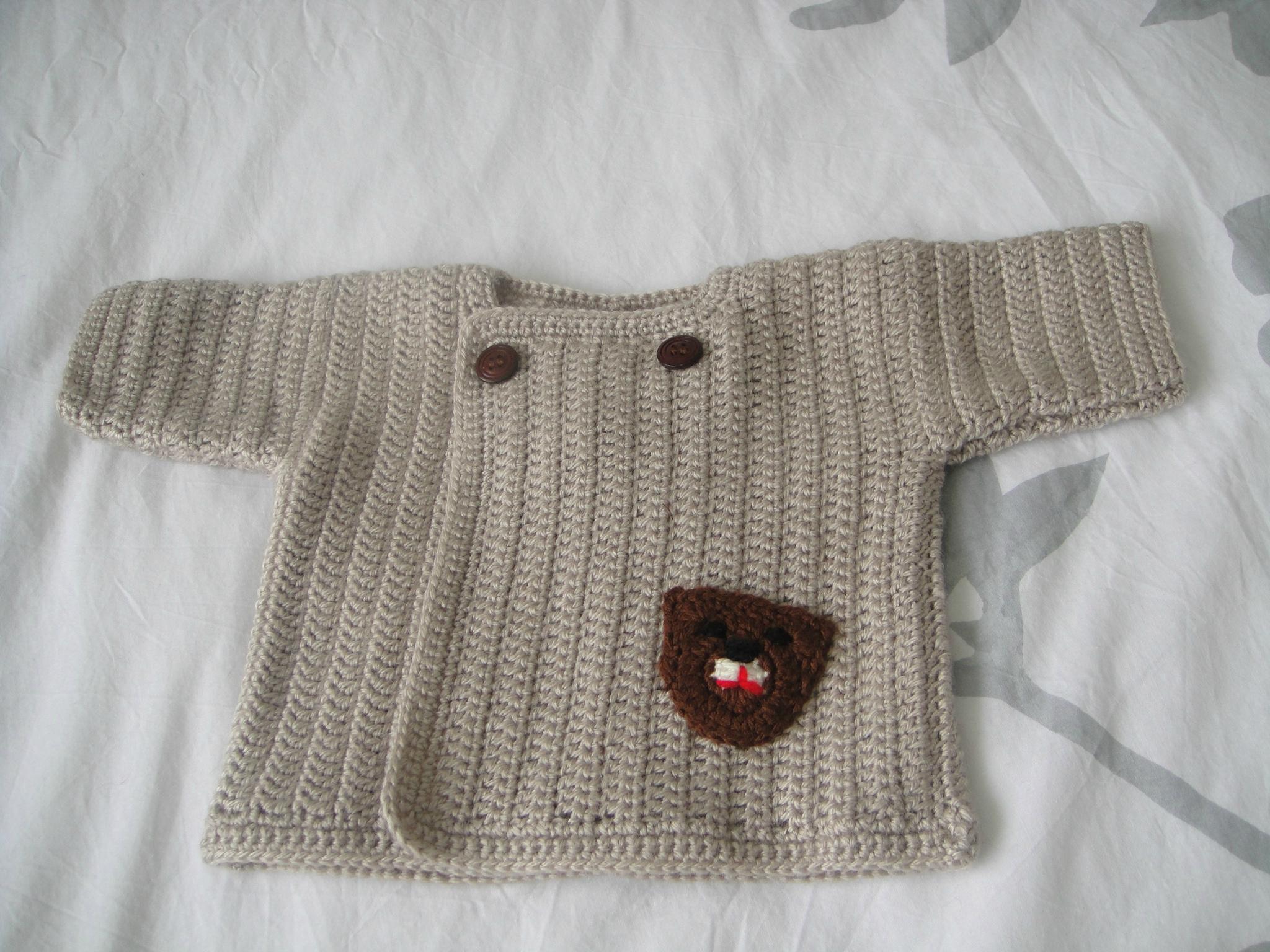 modèle tricot 1 mois