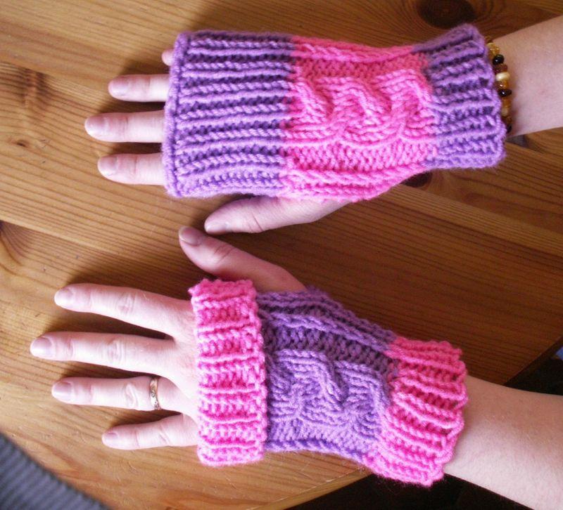 Image mod le tricot mitaines facile - Modele mitaine tricot facile ...