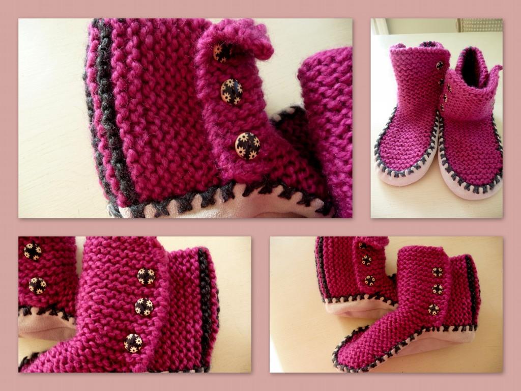 modèle tricot chausson adulte gratuit