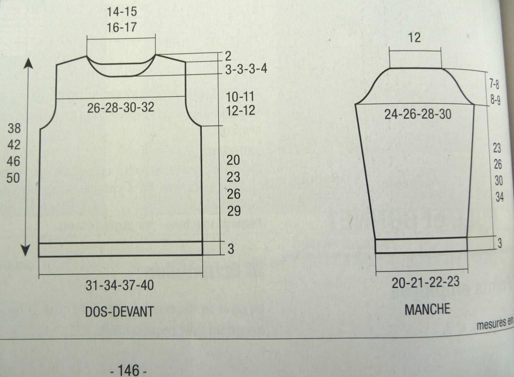 modèle tricot pull femme aiguille 4