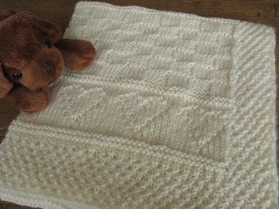 couverture tricotée pour bébé patron couverture bébé au tricot couverture tricotée pour bébé