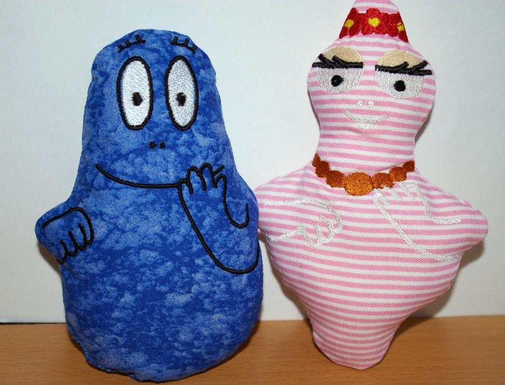 modèle doudou barbapapa tricot
