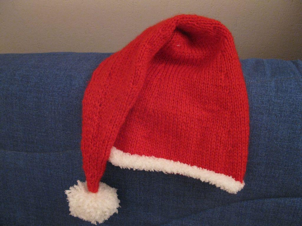modèle tricot bonnet pere noel