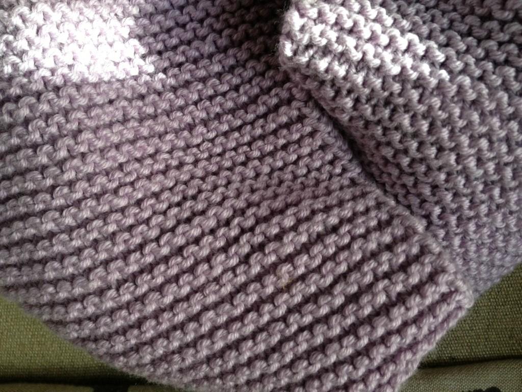 tricoter echarpe homme point mousse