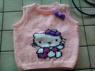 modèle tricot hello kitty pull