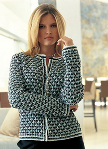 tricoter une veste style chanel