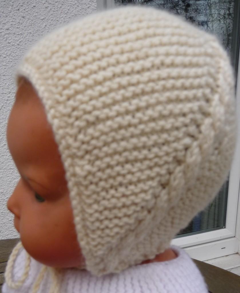 Aide patron tricoter bonnet de bébé fb53e59b153