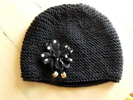 tricoter un bonnet sympa