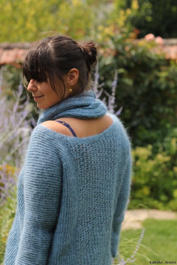 Patron tricot pull col bateau - Comment tricoter avec des aiguilles circulaires ...