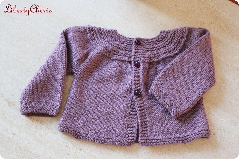 gilet a tricoter pour fille