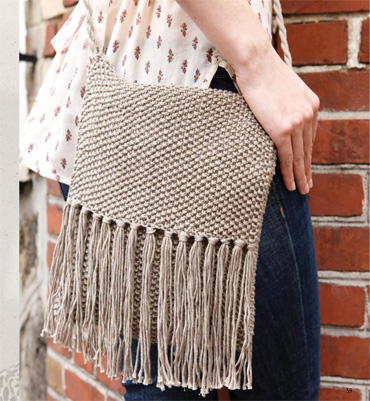 modèle tricot sac besace