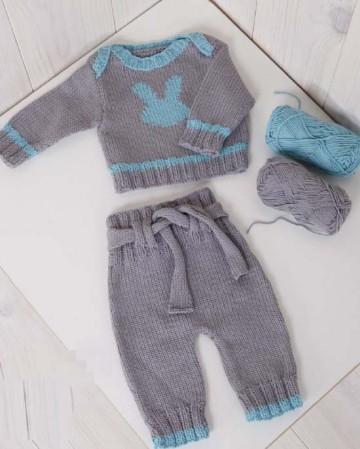 tricoter pantalon bebe