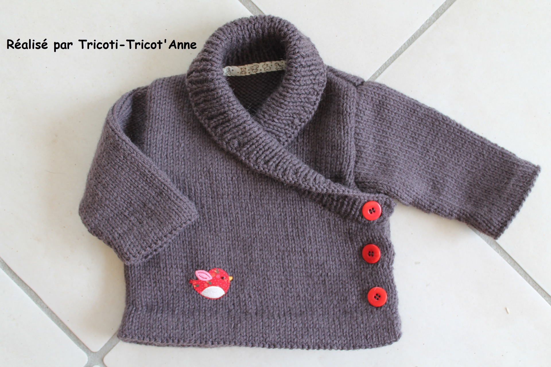 modele tricot gilet garcon 18 mois