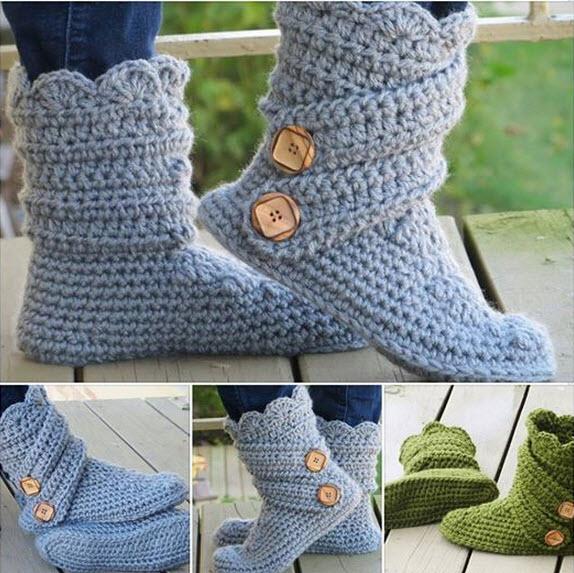 modèle tricot pantoufle