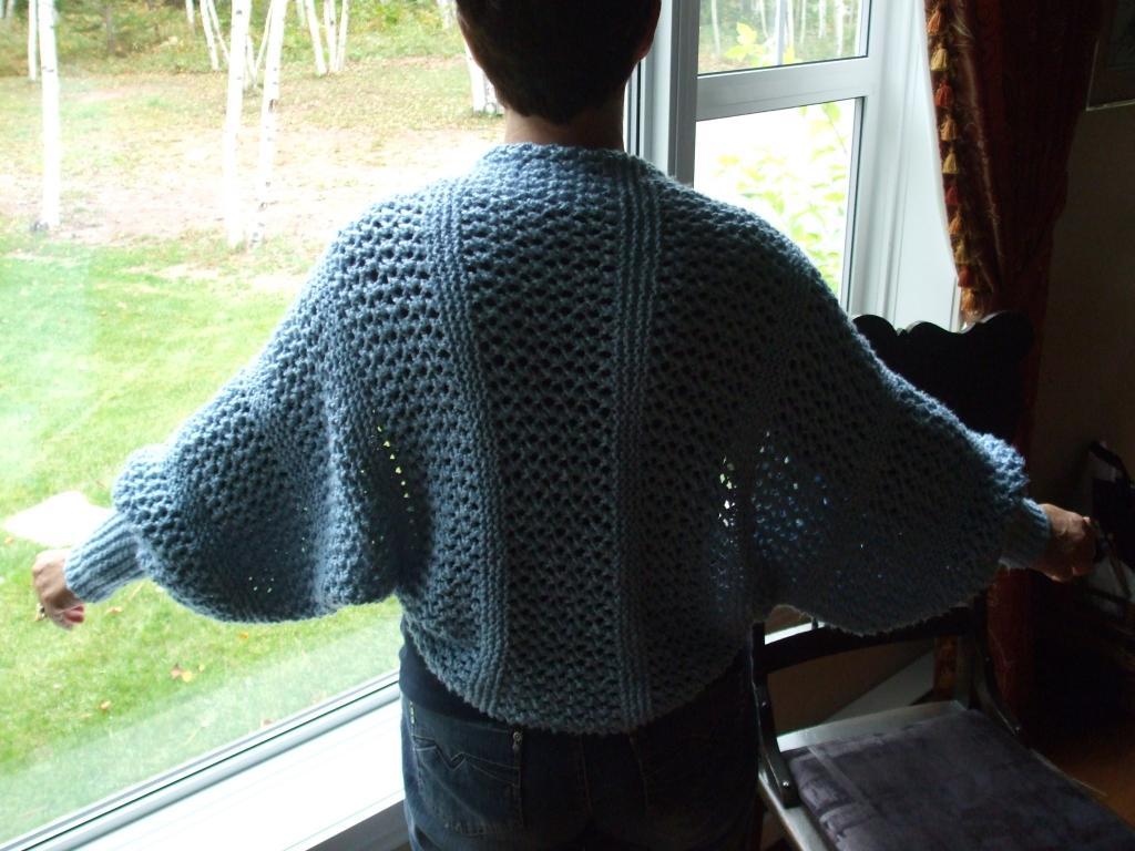 patron tricot liseuse