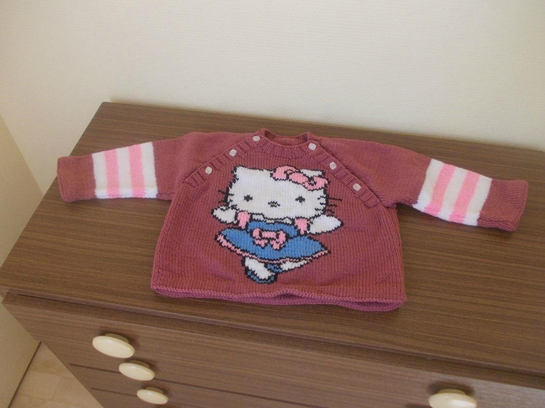 Patron tricot gratuit hello kitty - Modele hello kitty ...