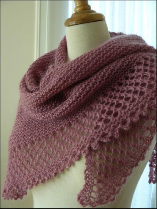 modèle chale au tricot facile