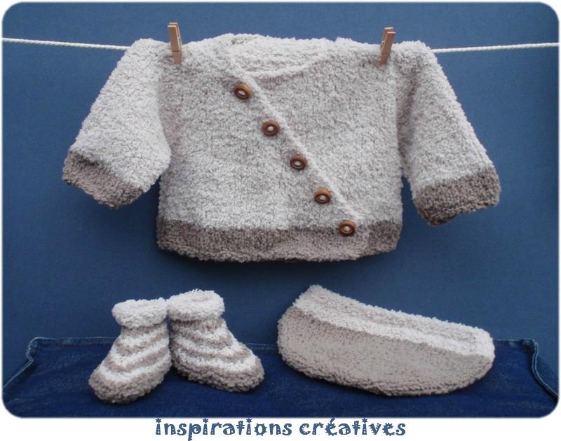Modele tricot layette pour bebe - Point fantaisie tricot phildar ...