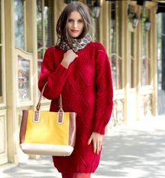 Robe en laine tricotee