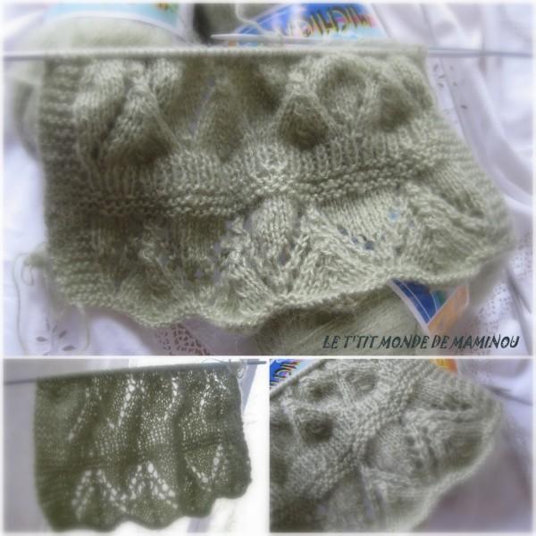 modèle tricot echarpe ajouree
