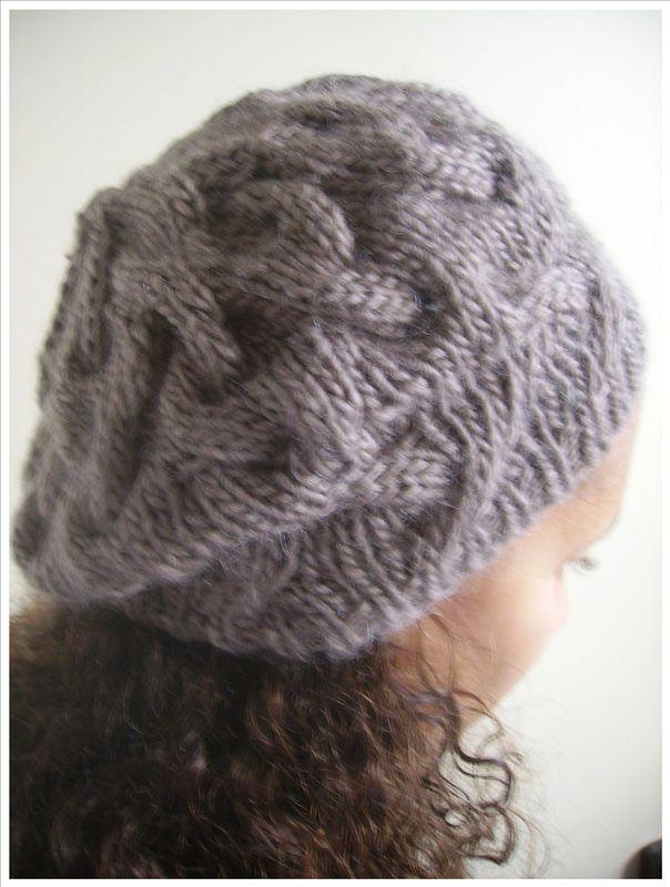 patron tricot bonnet cocoon