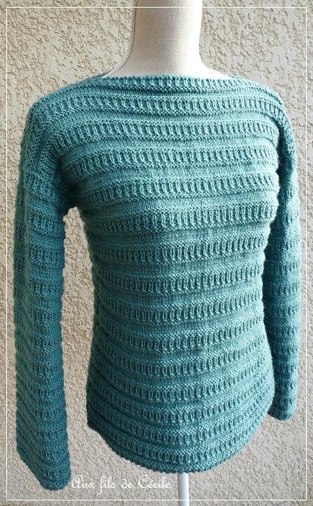 Gratuit patron tricot pull col bateau - Tuto tricot debutant gratuit ...