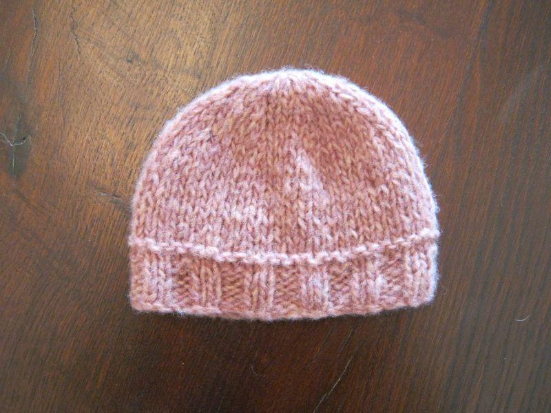 tricoter un bonnet 12 mois
