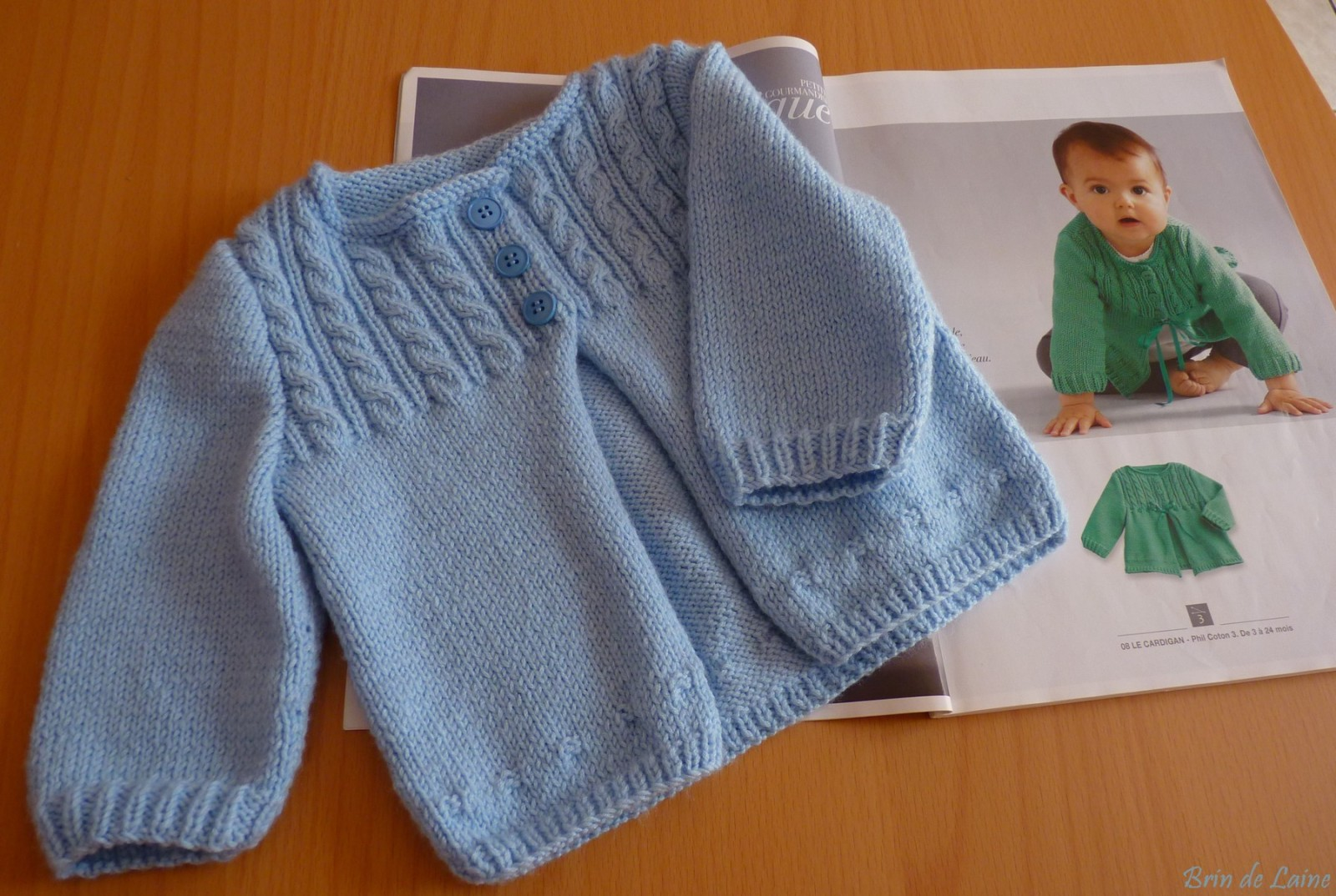 Modele tricot layette naissance gratuit phildar - Apprendre a tricoter debutant ...
