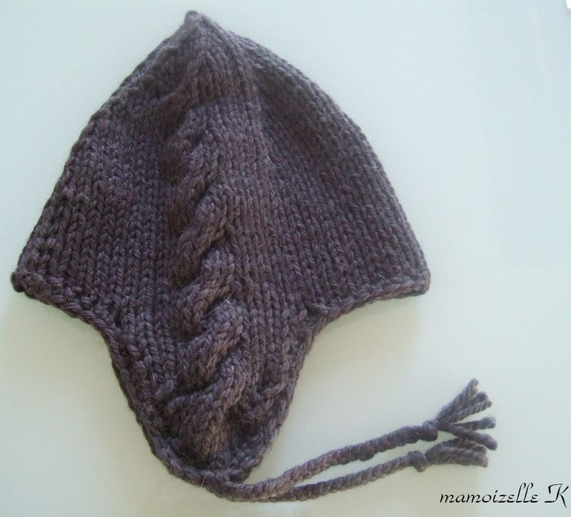 patron tricot bonnet peruvien homme