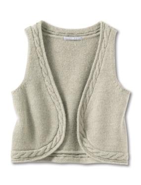patron tricot gilet sans manche 2 ans