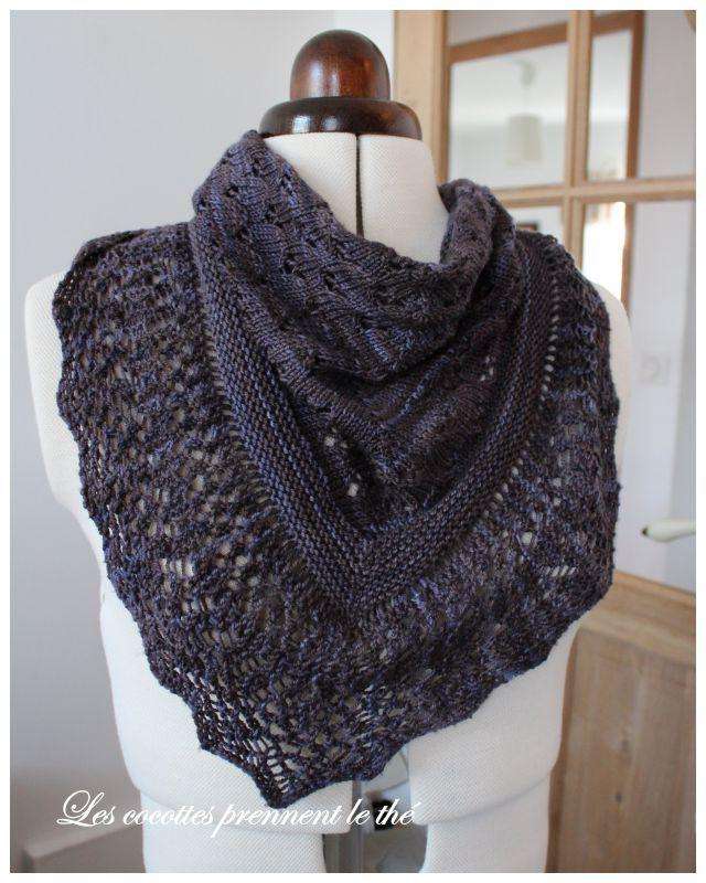 Mod le chale au tricot facile - Modele mitaine tricot facile ...