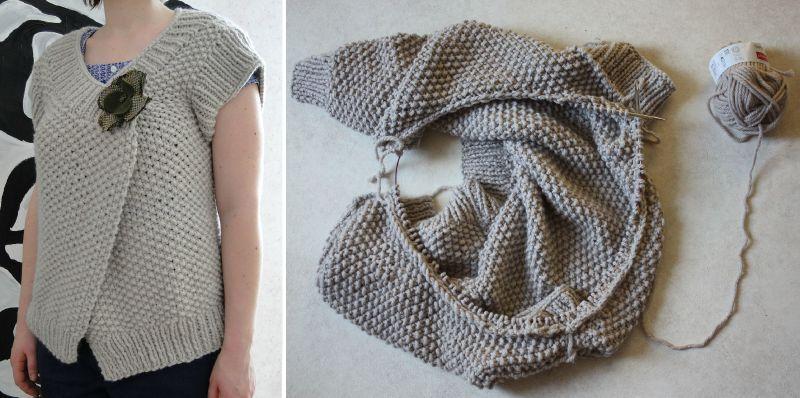 modèle tricot avec aiguilles circulaires