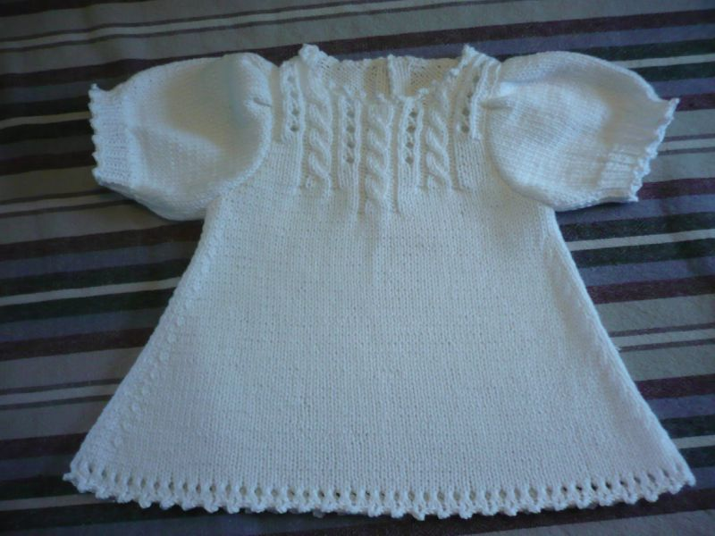 apprendre a tricoter une robe pour bebe