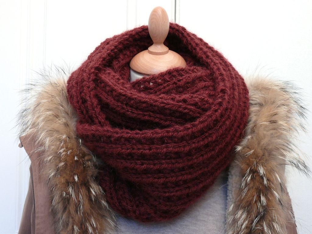 patron tricoter snood