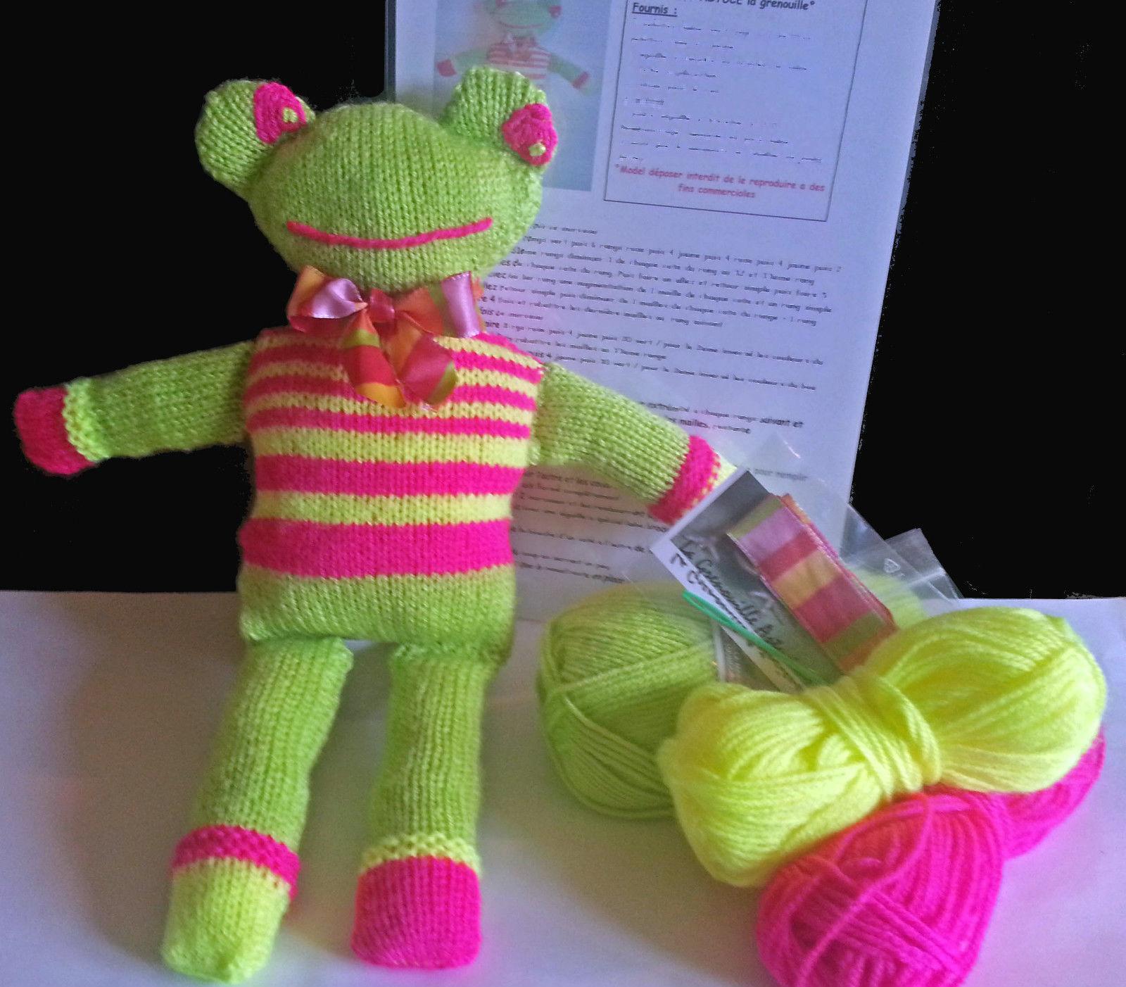 Mod le doudou grenouille tricot - Creer un doudou pour bebe ...