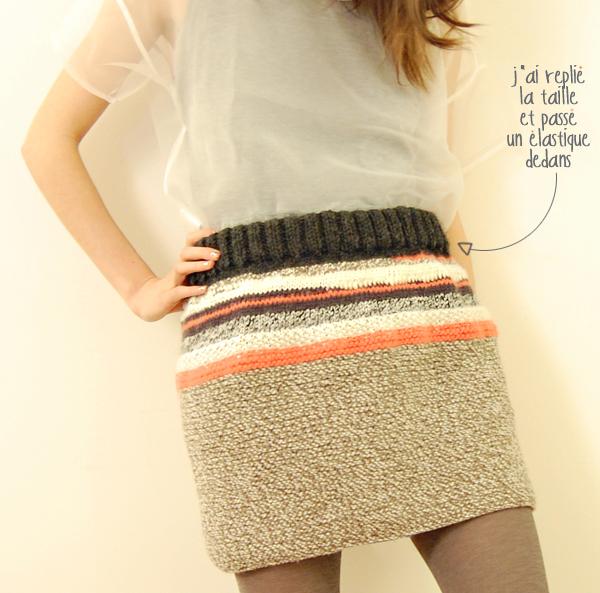 modèle jupe au tricot