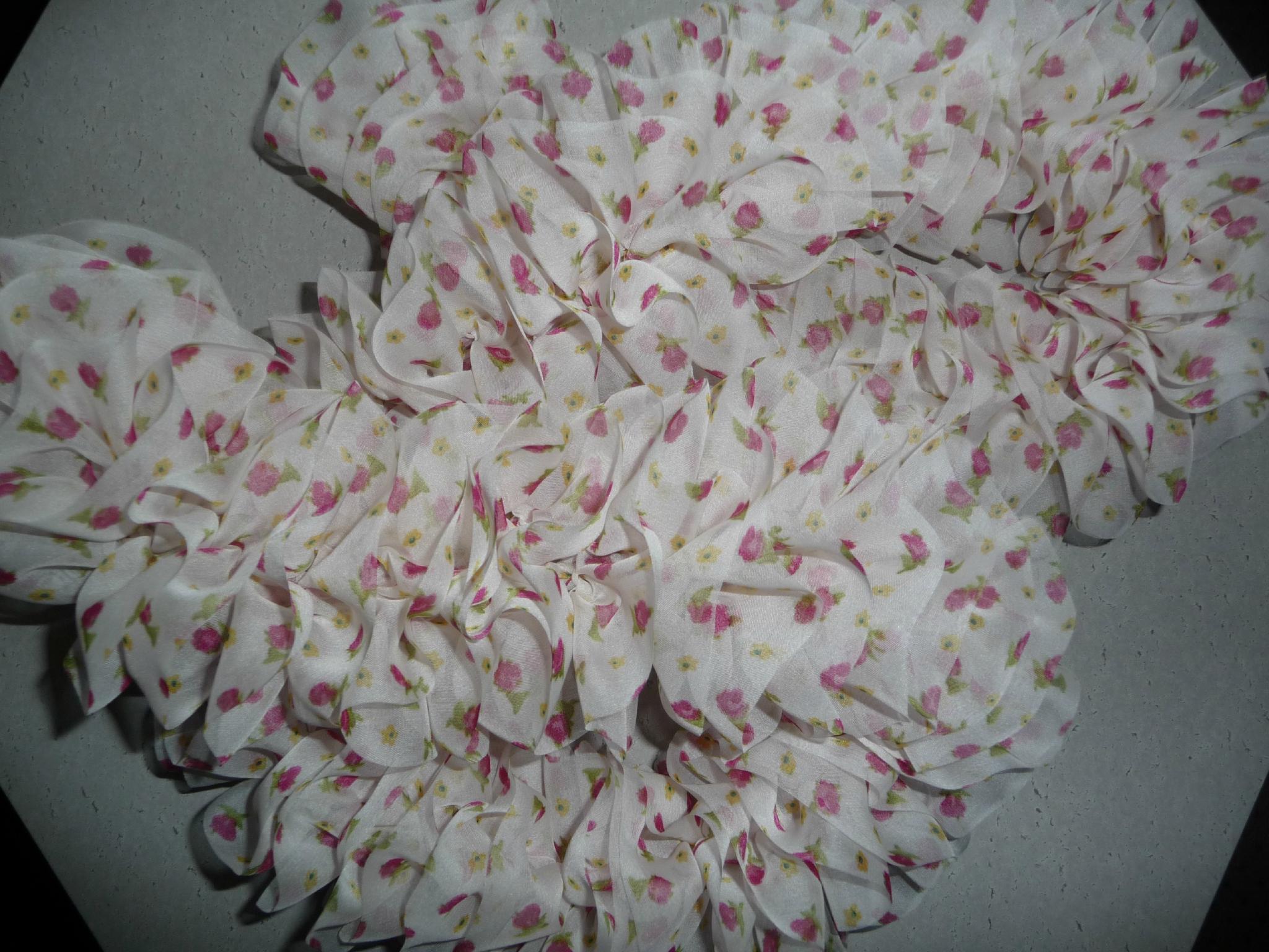 tricoter une echarpe avec laine ruban