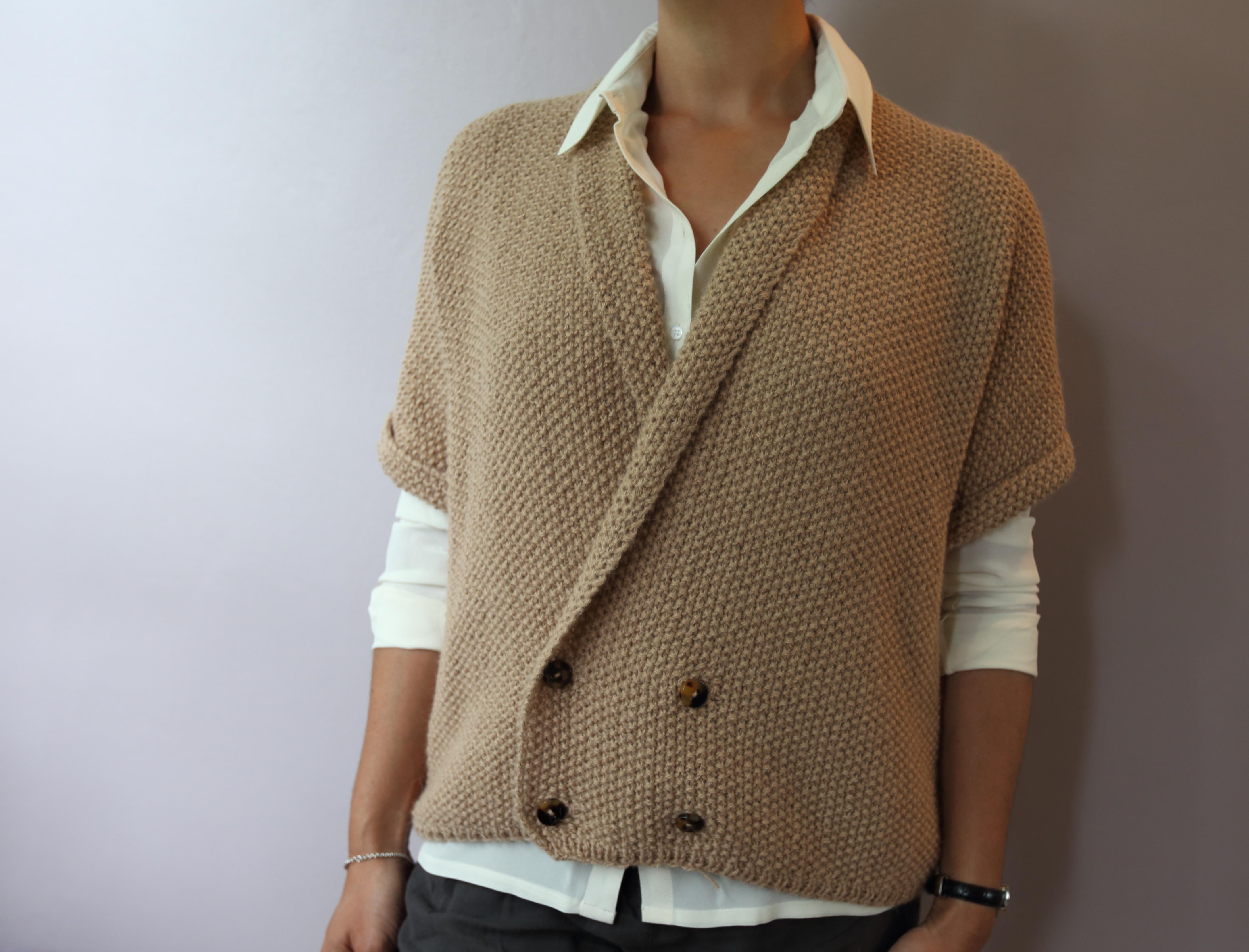 modele gilet tricot aiguille 6