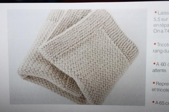 modèle tricot couverture layette