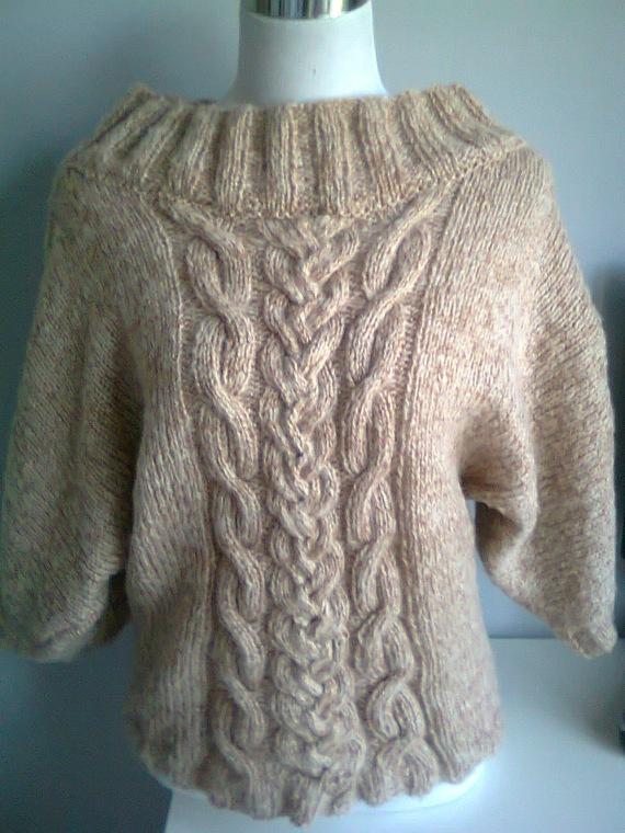 modele tricot pull torsade femme