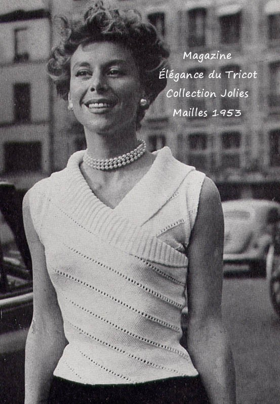 modèle tricot vintage