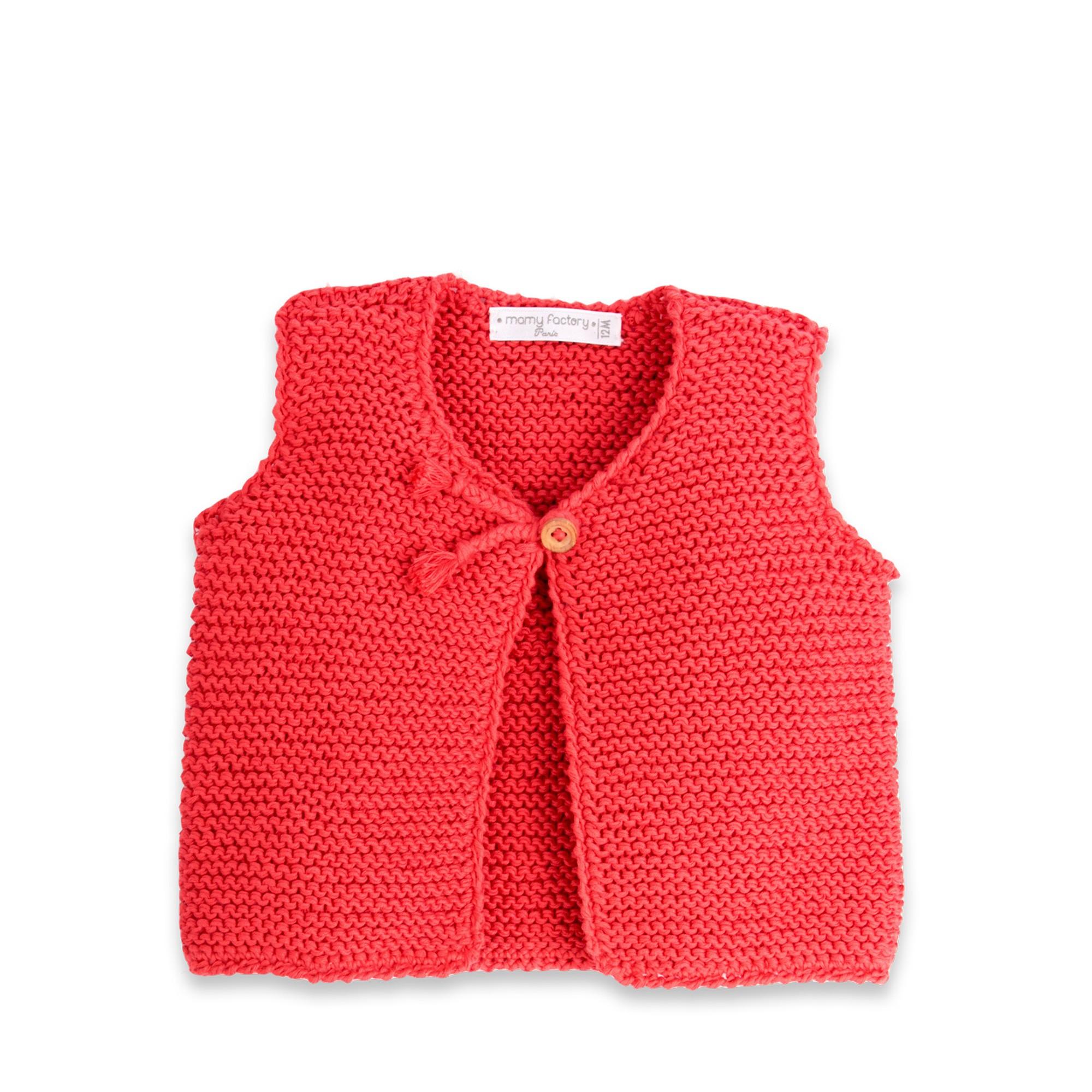 Patron tricot gilet sans manche 2 ans - Tricot sans aiguille ...