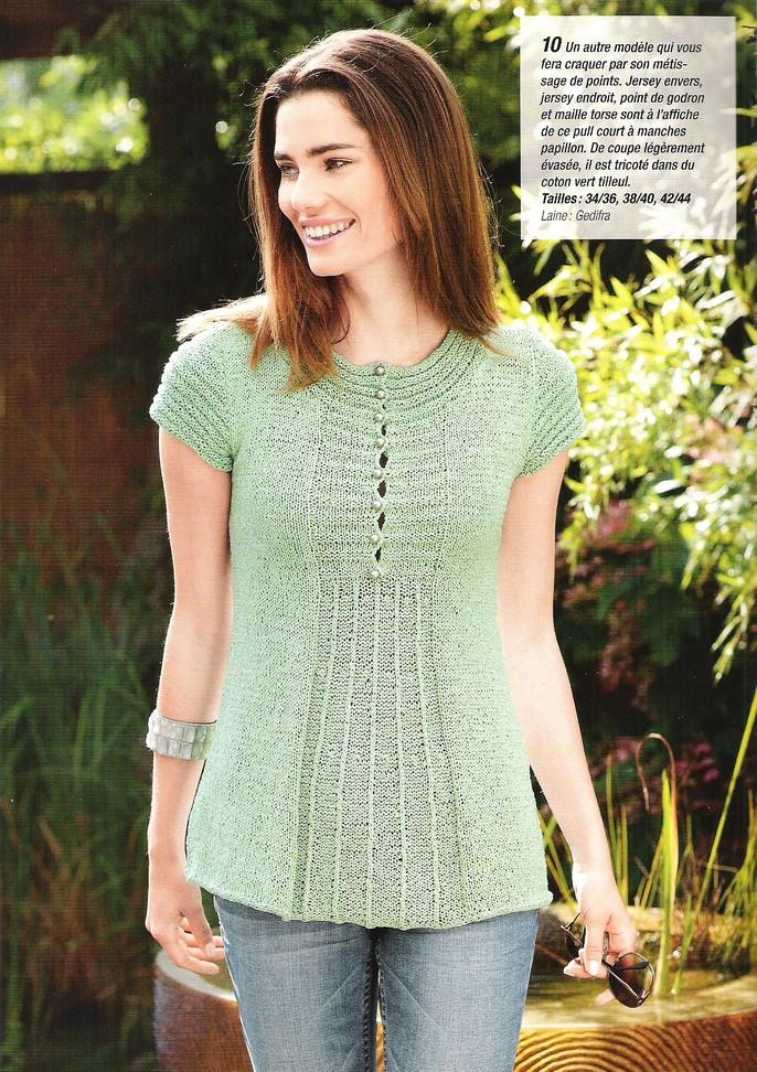 modèle tricot pull printemps