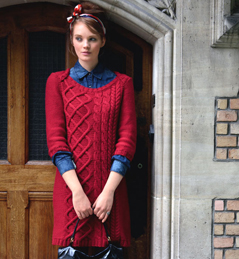 58a0bba8a7b modèle tricot robe laine femme