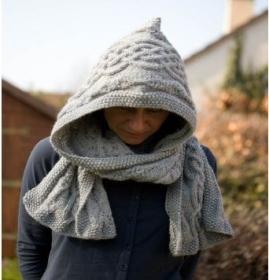 affichage modèle tricot echarpe capuche gratuit 328857ac753