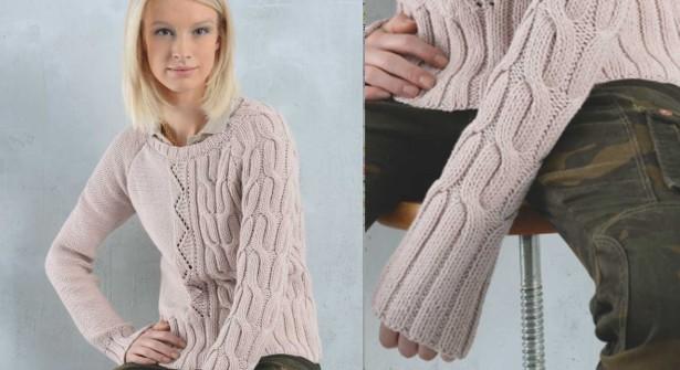 Tricoter un pull irlandais femme